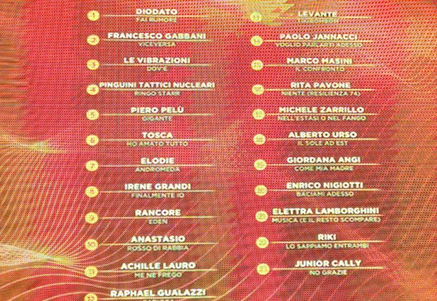 Siamo giunti all'ultima serata della 70° edizione del Festival di Sanremo. Ecco l'ultima classifica provvisoria dell'edizione!