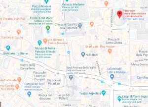 Roma - Percorso dal Pantheon a Piazza Campo de' FIori